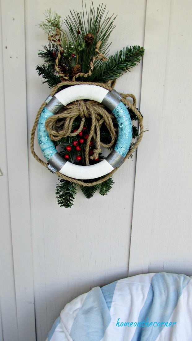 christmas wreath life ring buoy