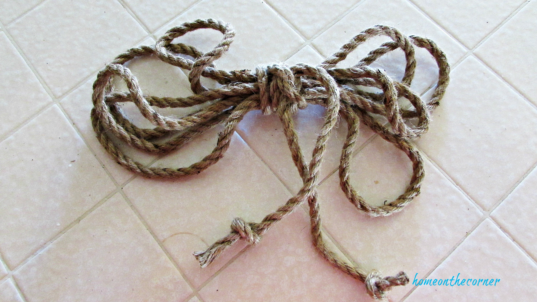 christmas wreath nautical rope bow
