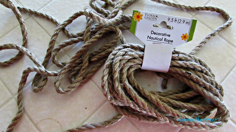 christmas wreath nautical rope