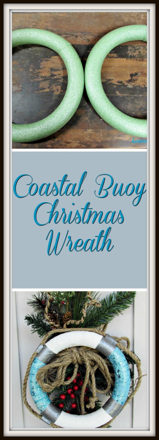 Coastal buoy christmas wreath title