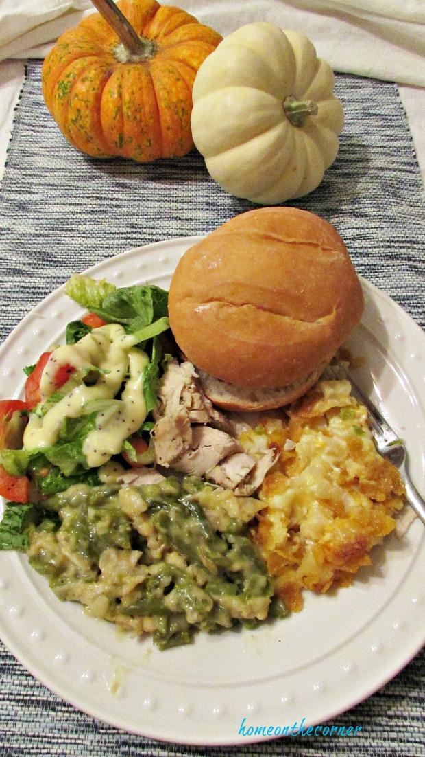 potato casserole plate
