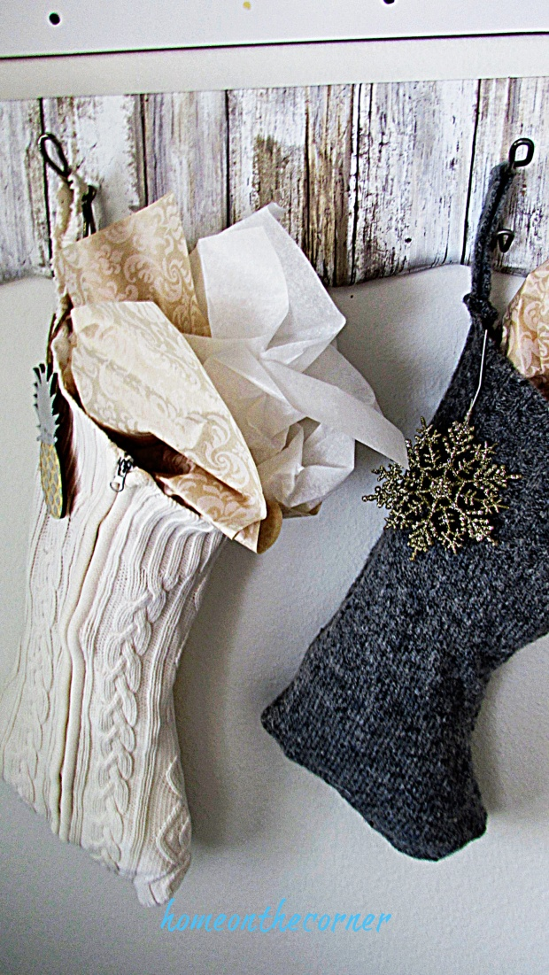 Christmas entryway stockings