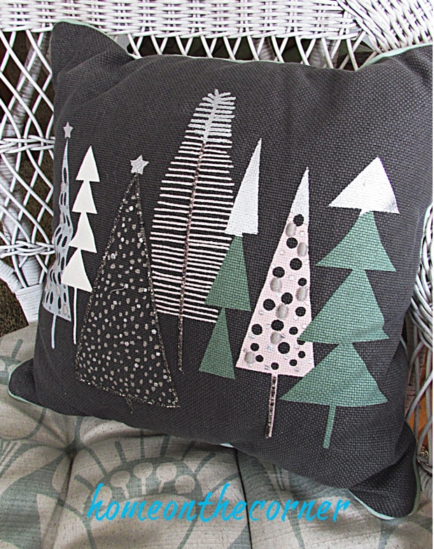 Christmas Living room christmas tree pillow