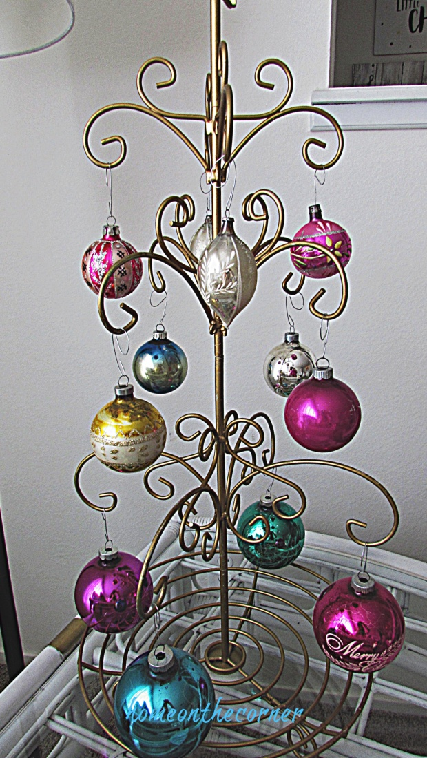 christmas living room vintage ornament tree