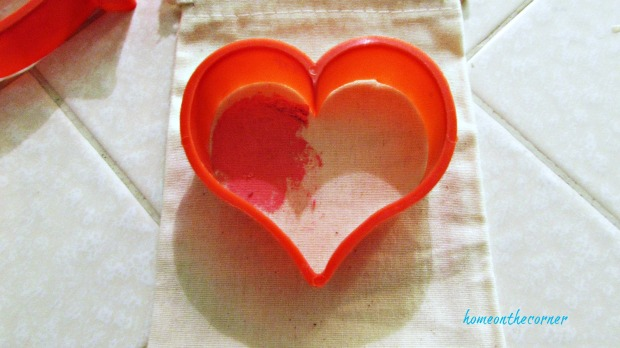 pink painted stencil heart