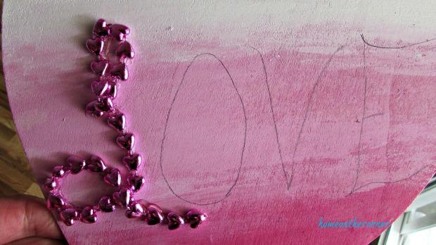 wooden heart beads love