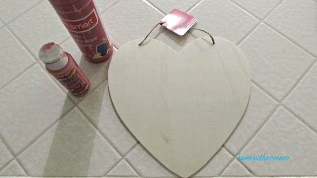 wooden heart dollar tree