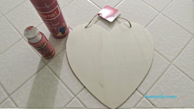 wooden heart dollar tree