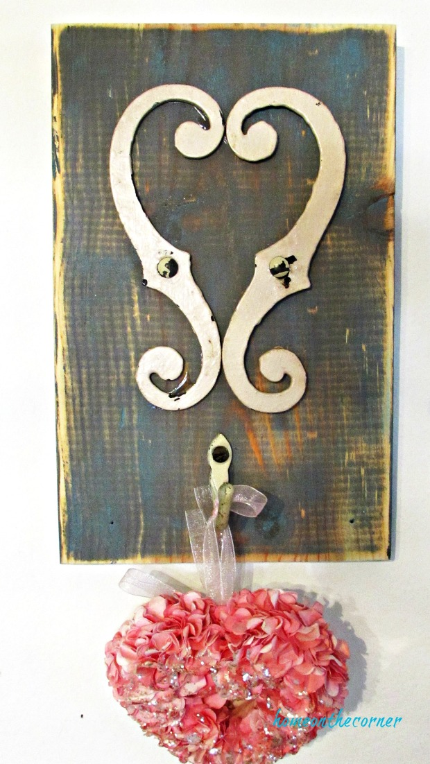 recycled heart farmhouse heart