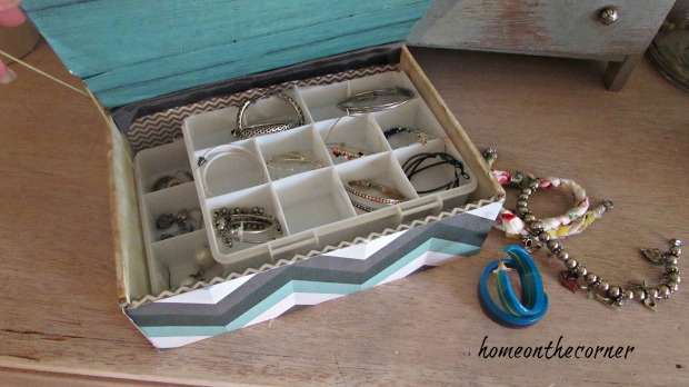 cigar box turquoise earring box